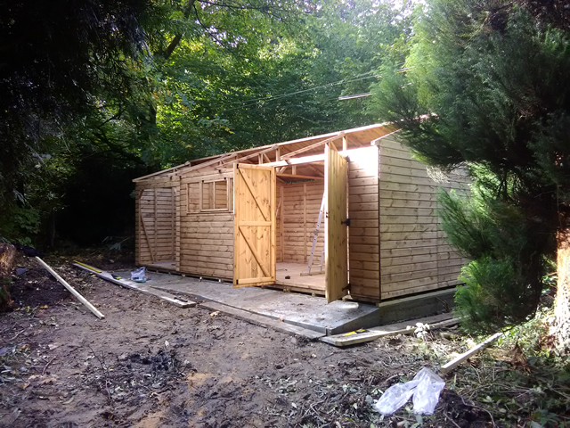 Hatto Bespoke Shed Installation During Construction