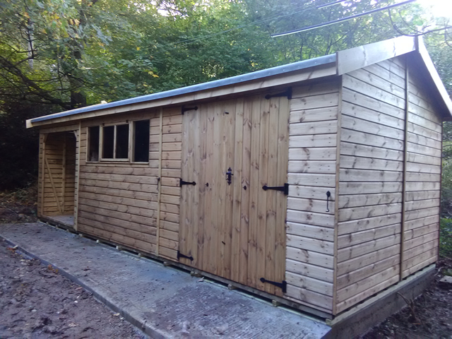 Hatto Bespoke Shed and Log Store Complete