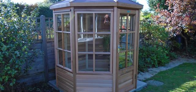 Mitchell Alton Cedar 6x6 Summerhouse Installation