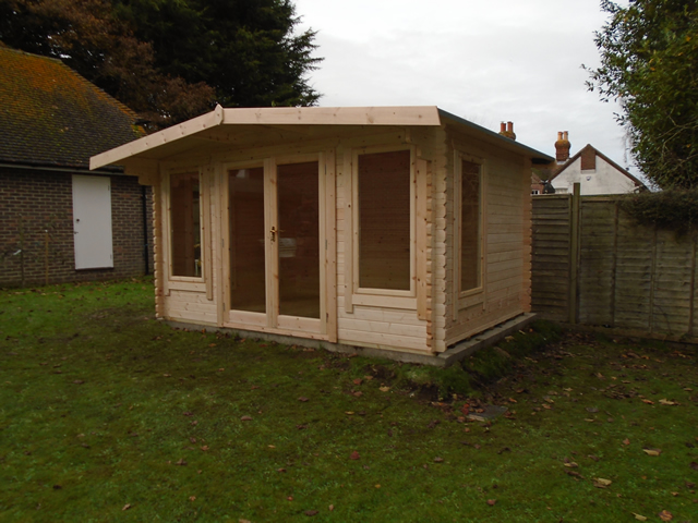 Peat Sutton Log Cabin Installation Completed
