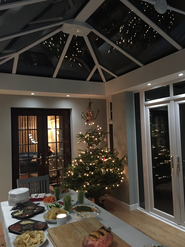 Birdseye - Conservatory completed in time for Christmas