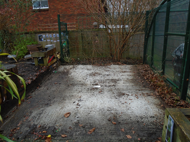 Concrete Area after old Shed taken down