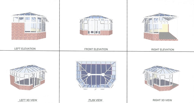 Arnold Conservatory CAD Design Drawings