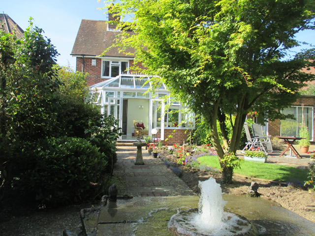 Arnold Parallel Victorian Conservatory View from end of Garden