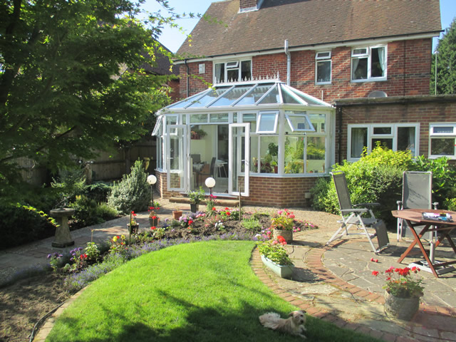 Arnold Parallel Victorian Conservatory View from the Garden