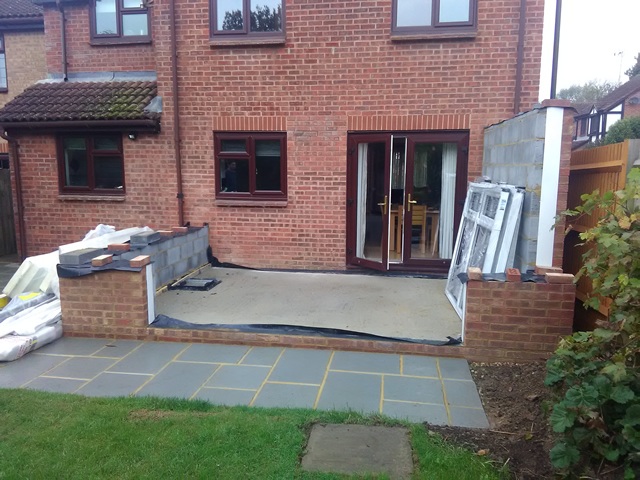 Bradshaw conservatory base and walling