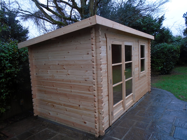 Williams Log Cabin Installation West Sussex