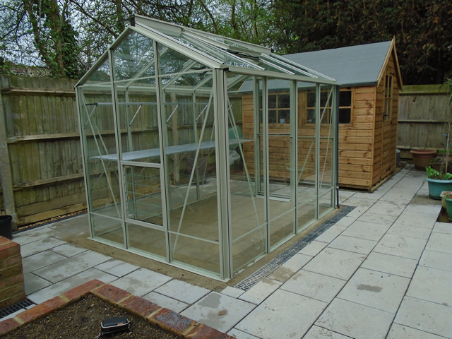Gale 8 x 6 Greenhouse Horsham Rear View