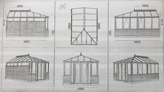 Bloxham Conservatory Plan Drawings