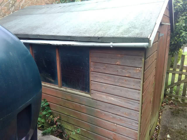 Old shed that we removed