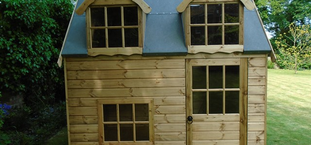 Regency Bluebell 8x6 Playhouse Closeup