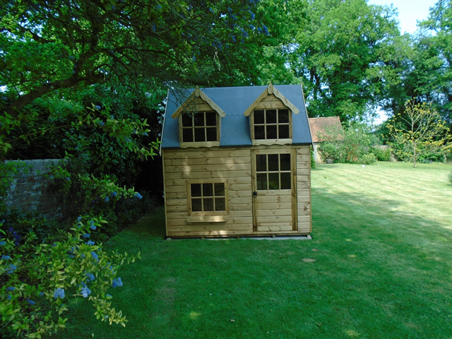 Regency Bluebell 8x6 Playhouse Installation
