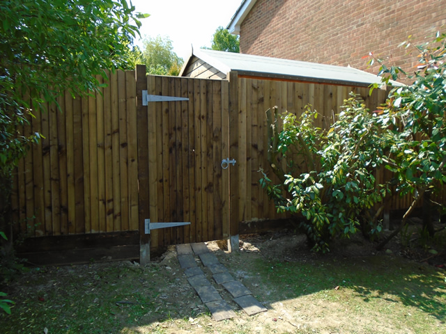 The fence and gate that we installed