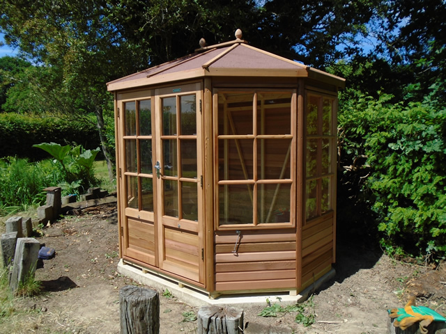 Chatsworth 6x8 Summerhouse Installation in Bolney West Sussex
