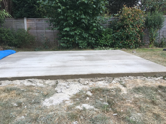 Thorn Concrete Base Completed