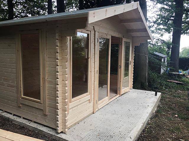 Log Cabin Door Open