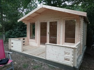 Log Cabin Finished with Veranda