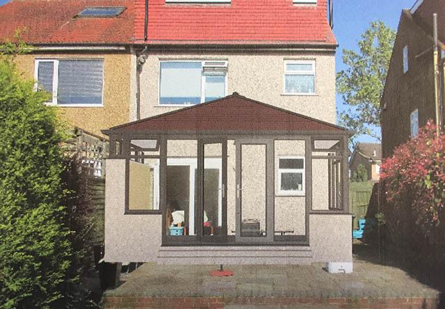 Sanders Solid Roof Conservatory CAD Design
