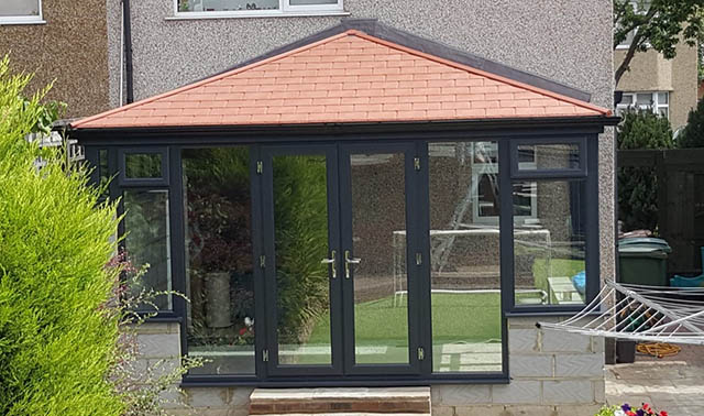 Solid Roof Conservatory before being rendered