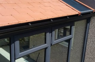 Solid Roof Conservatory with Glazed Sections