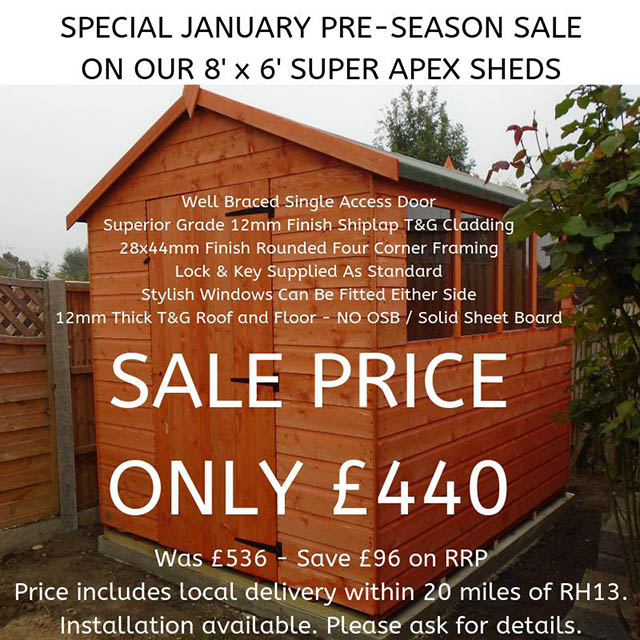 Super Apex Shed Special Offer