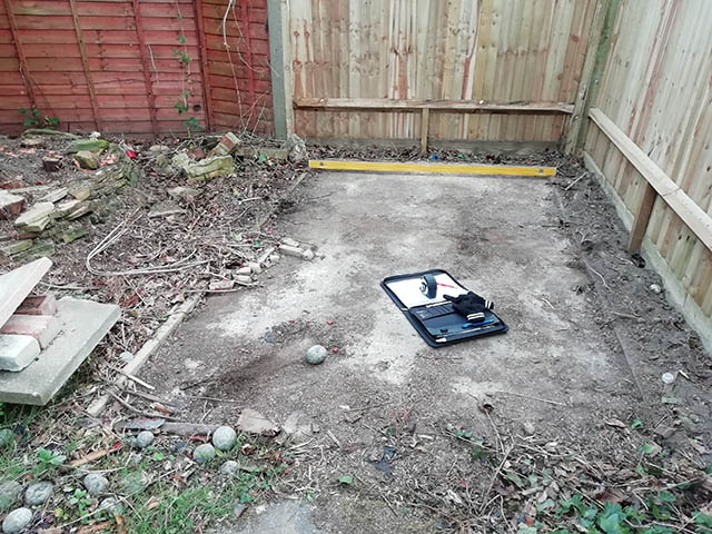 Survey Picture of Concrete Base