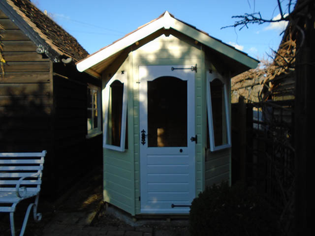 Purcell Bespoke Summerhouse Painted in Soft Sage