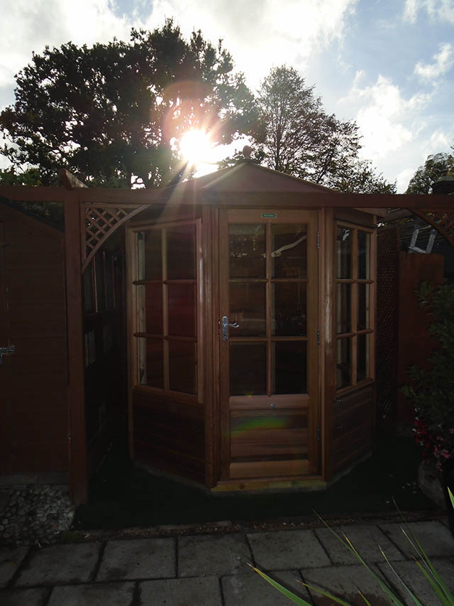 Smith Alton Octagonal Summerhouse Installation Completed