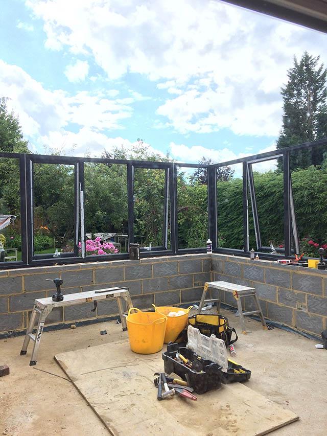 Fraser Conservatory Frames Going Up