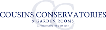 Cousins Conservatories & Garden Rooms Logo 345 x 100