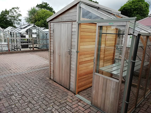 Fusion 8x6 Ex-Display Combination Shed and Greenhouse 2