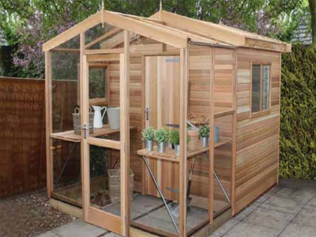Malvern Stanford Apex Shed Greenhouse Combo