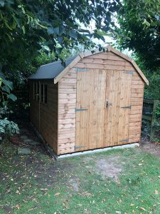 Regency Barn 12x8 Finished Doors Closed