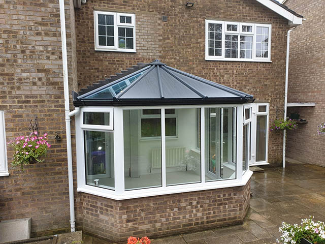 Skam Finished Conservatory from Garden