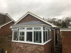 Scrase showing finished roof replacement