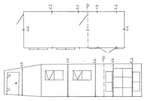 Custom Garden Building Hand Drawing Design