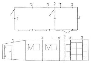 Custom Garden Building Hand Drawing Design