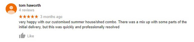 Haworth Review on Google
