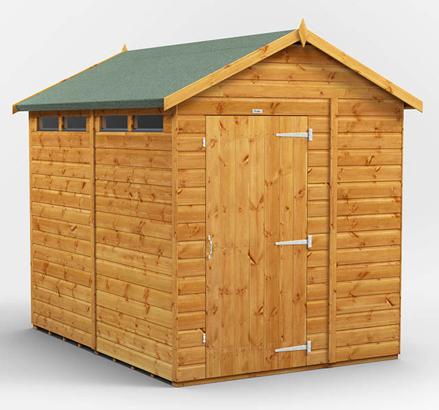 Power Sheds 8x6 Security Apex Shed