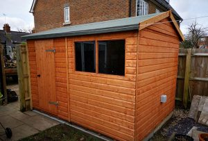Completed Shed Installation - Tanner
