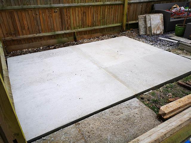 Concrete Base Complete - Tanner