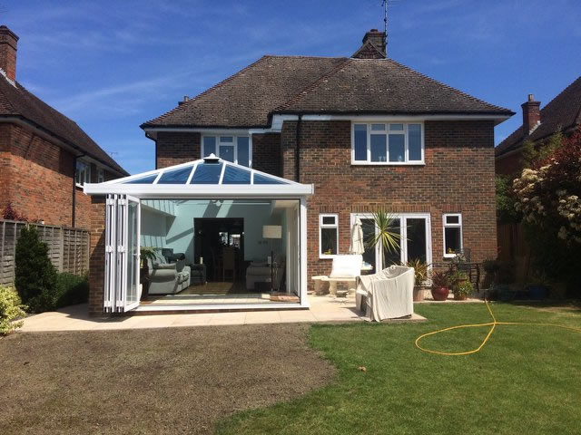 Bespoke Conservatory with Bi-Folding Doors - Beckwith