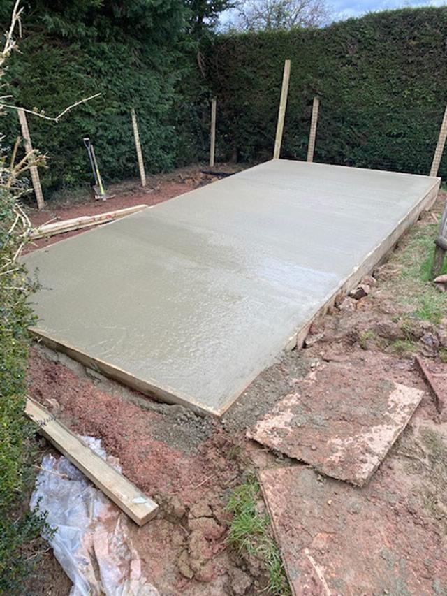 Concrete Base Construction - Adams