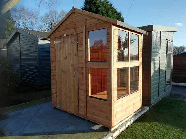 Display Power Potting Shed 4x6 Outside