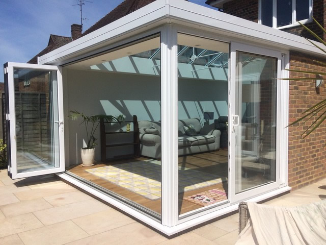 Horsham Bespoke Conservatory with Bi-Folding Doors - Beckwith