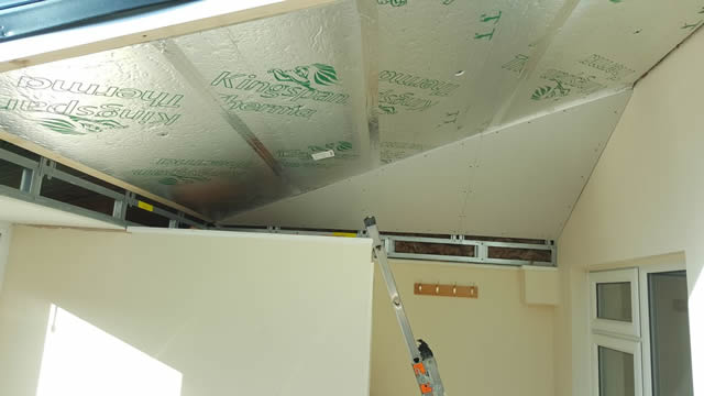 LivinRoof Conservatory Showing Insulation - Wright