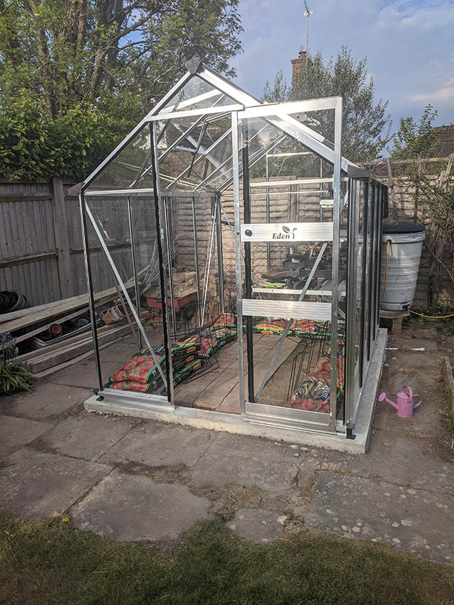 Murrell 8x6 Burford Greenhouse Installation