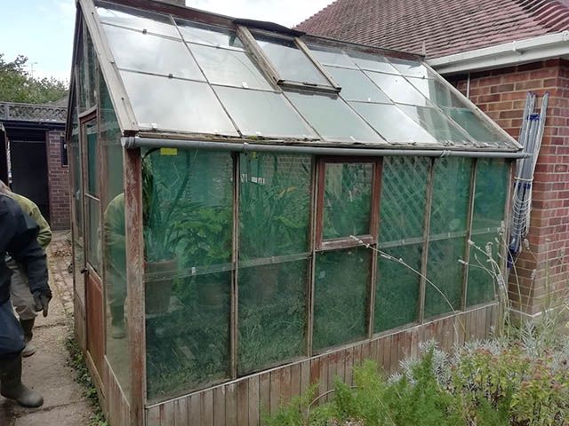 Old Greenhouse Outside - Mills