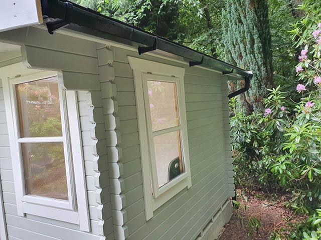 Woodlands 10x16 Log Cabin Instllation - Fury
