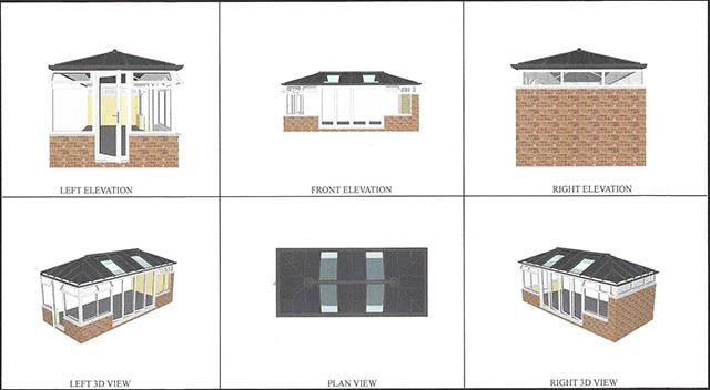 6 View 3D Design Conservatory Concept - Gabriel